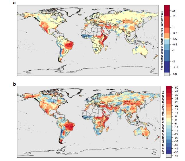 Imagem mostra como inflamabilidade evoluiu no planeta entre 1979 e 2013