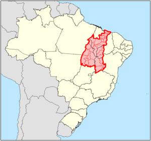 Divisão de municípios do Matopiba, segundo proposta do Ministério da Agricultura (Imagem: Wikipedia)