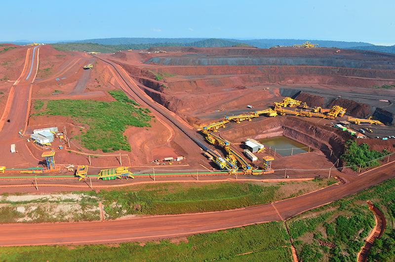 Mina de ferro do S11D, o maior projeto da Vale, dentro da Flona Carajás (Foto: Vale)