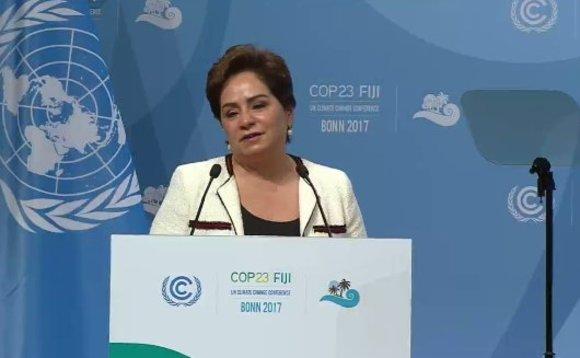 Em abertura da COP23, Patricia Espinosa, Secretária Executiva da UNFCCC, faz apelo aos delegados: