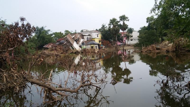 Enchente em Bengala Ocidental, Índia (Foto: Aditi Ghatak/Climate Home)