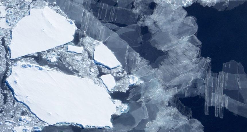 Gelo marinho antártico (Foto: Science News)