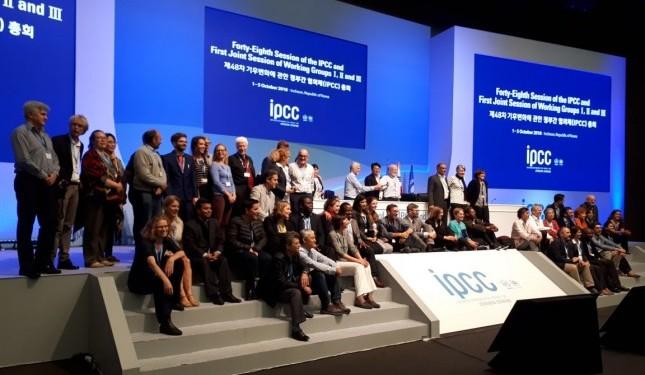 Cientistas apresentam relatório especial do IPCC em Incheon, Coreia do Sul. (Foto: WWF)