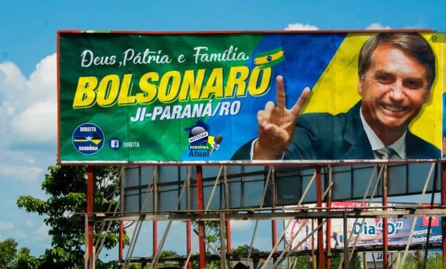 Outdoor de Jair Bolsonaro em Rondônia (Foto: Reprodução)