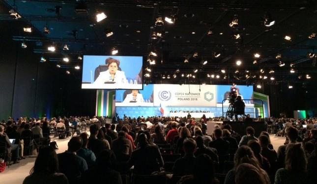 Plenária da COP24, em Katowice, Polônia (Foto: Claudio Angelo/OC)